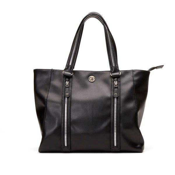 Sac de shopping Noir pour femme ROCK 02 - GIRLS POWER