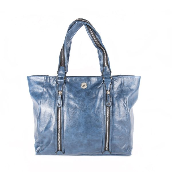 Sac de shopping Bleu pour femme ROCK 02 - GIRLS POWER
