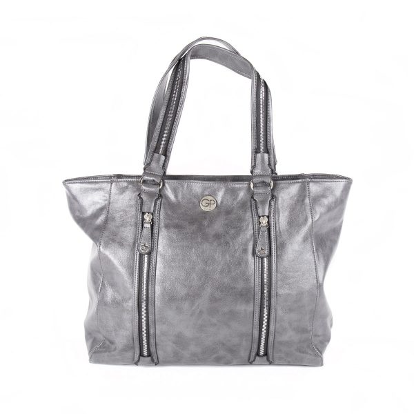 Sac de shopping Gris pour femme ROCK 02 - GIRLS POWER
