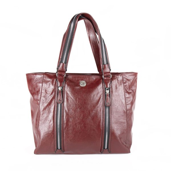 Sac de shopping Rouge pour femme ROCK 02 - GIRLS POWER